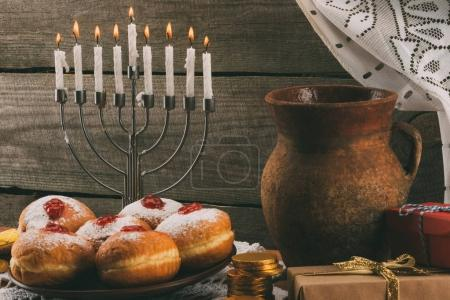 traditional hanukkah celebration