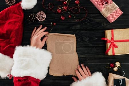 Santa claus with presents list