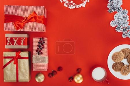 presents and christmas decorations