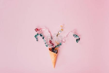 confetti spilling out waffle cone