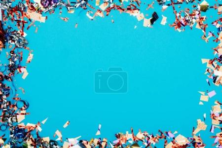 frame made of confetti
