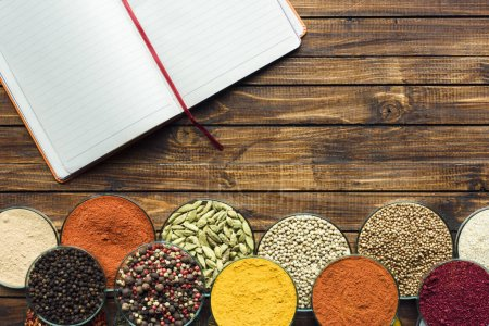 Notebook for recipes and spices