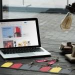 laptop with ebay website