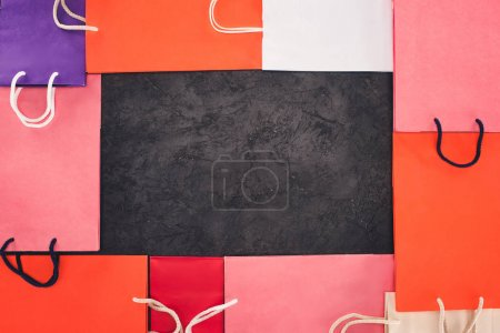 frame of shopping bags