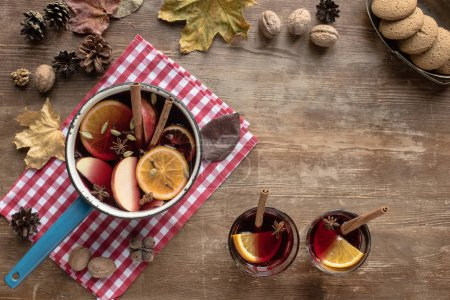 water dipper with mulled wine