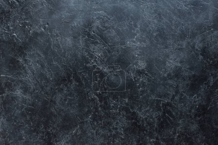 Photo for Dark concrete scratched grungy background - Royalty Free Image