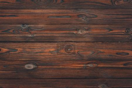 Photo for Top view of brown wooden planks, wood background - Royalty Free Image