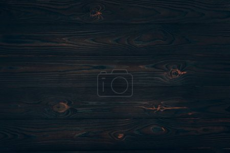 Photo for Top view of dark wooden planks, wood background - Royalty Free Image