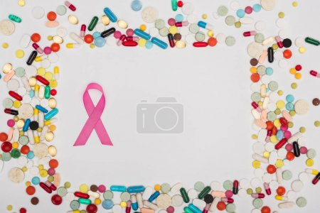 Breast Cancer Ribbon and pills