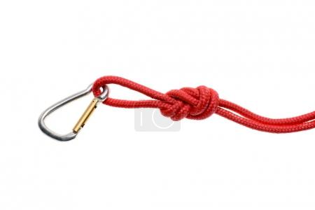 rope with knot and carabiner