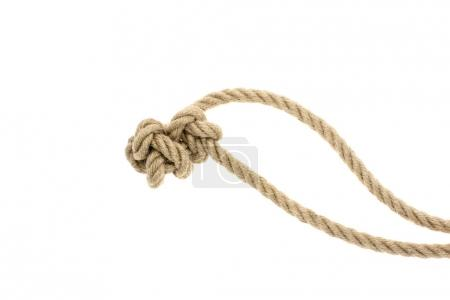 nautical rope with knot