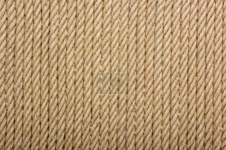 Photo for Close-up view of brown rope textured background - Royalty Free Image