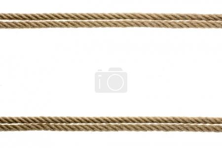 Photo for Close-up view of straight rope isolated on white - Royalty Free Image