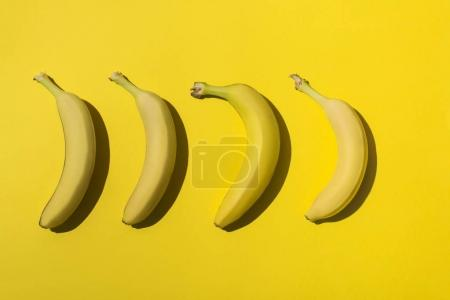 Photo for Close-up view of fresh ripe bananas on yellow - Royalty Free Image