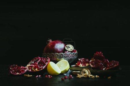 Pomegranates and lemons