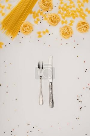 pasta and cutlery