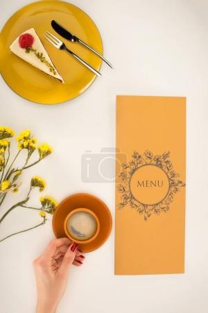 menu and coffee