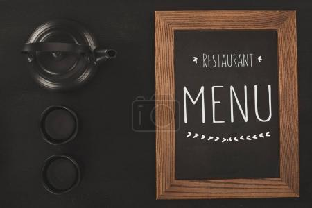 menu and tea set