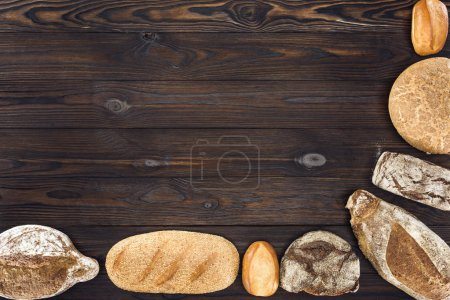 assortment of homemade bread
