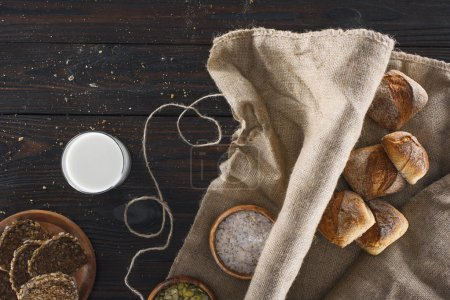 bread on sackcloth and milk