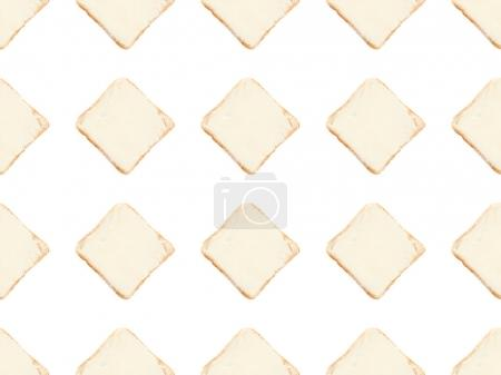 Toasts mit Buttermuster