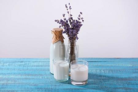 fresh milk with lavender