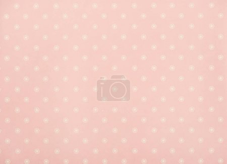 set of white transparent flowers on pink