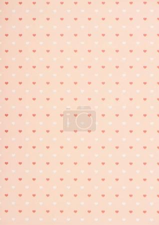 Photo for Collection of pink and white hearts on beige - Royalty Free Image