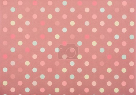 Photo for Set of colored circles for decoration on pink - Royalty Free Image