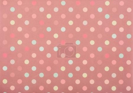 Set of colored circles for decoration on pink