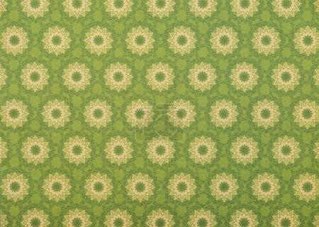 set of beige mandalas on light green