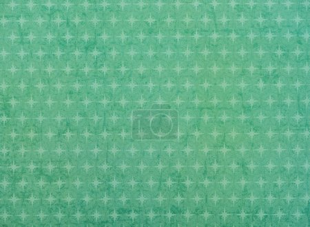 Photo for Set of light green stars in circles on green - Royalty Free Image