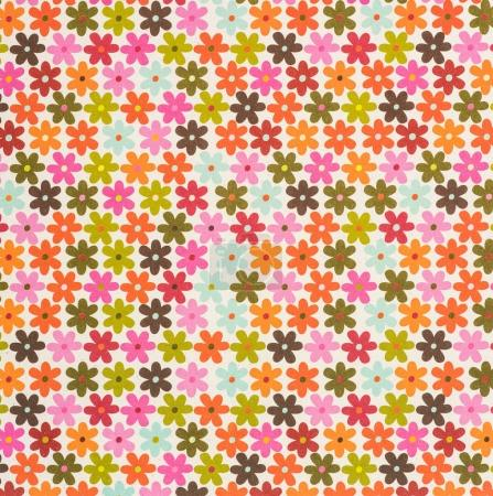 set of colored drawing flowers on white