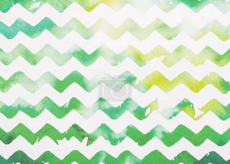 Photo for Zigzag white and green watercolor background - Royalty Free Image