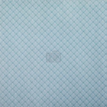 blue wrapper design with white lozenges pattern