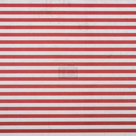 red and white horizontal lines wrapper design