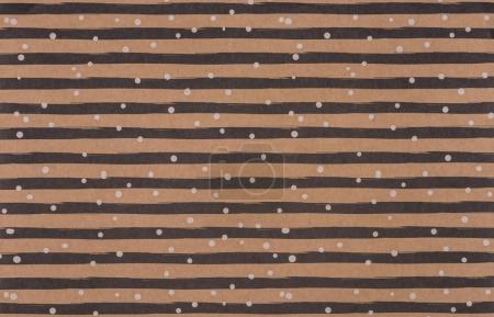 brown wrapper design with curve lines and snowflakes