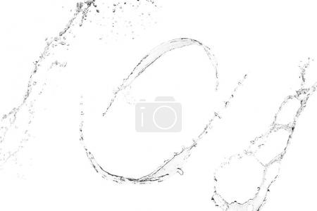 clean water splashes isolated on white