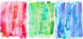 """Постер, картина, фотообои """"Абстрактной живописи с красного, зеленого и синего мазки на белом"""""""