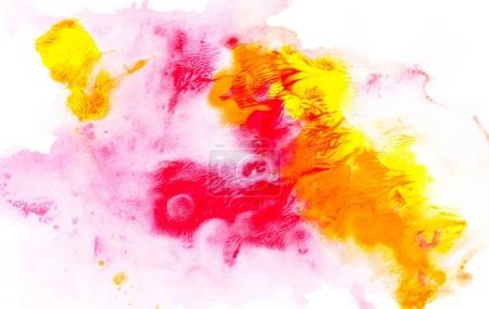 Photo for Abstract painting with bright colorful paint spots on white - Royalty Free Image