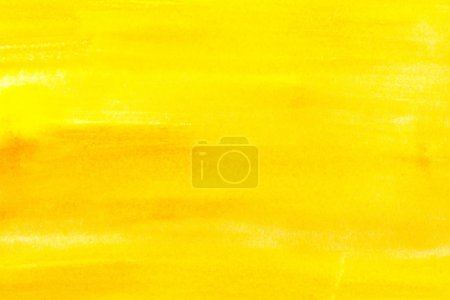 Photo for Abstract painting with bright yellow paint strokes, full frame - Royalty Free Image
