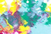 """Постер, картина, фотообои """"Абстрактной живописи с яркие красочные краски пятна на белом фоне"""""""