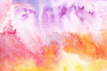 Abstract painting with colorful watercolor background