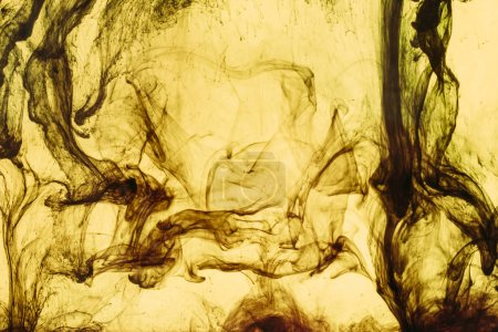 marco completo de salpicaduras de pintura amarilla y remolinos