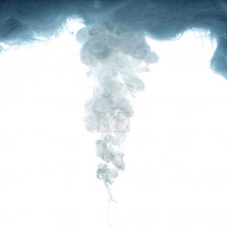 close up view of grey ink splash isolated on white