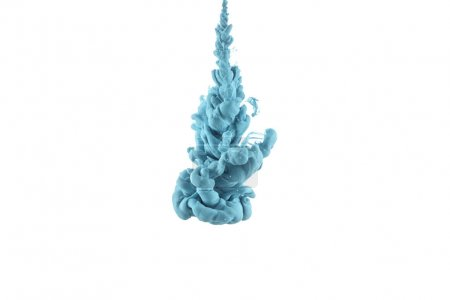 splash of blue paint, isolated on white