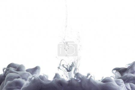 Photo pour Peinture monochromatique grise éclaboussure, isolée sur blanc - image libre de droit