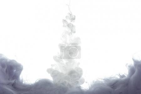 Photo for Monochromatic grey paint splash, isolated on white - Royalty Free Image