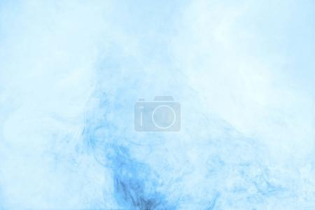 Photo for Texture with swirls of blue paint in water - Royalty Free Image