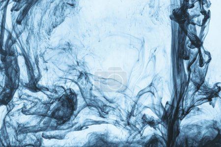 Photo for Background with swirls of blue paint in water - Royalty Free Image